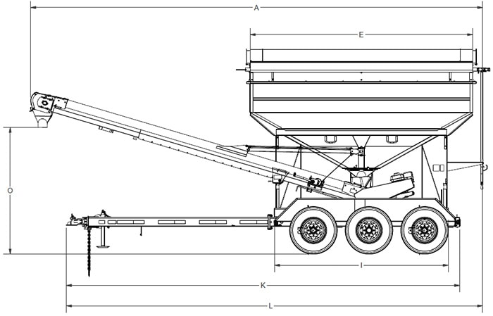 Seed Tenders - Bulk Seed Tenders with Conveyor