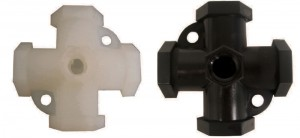 Nylon & Polypropylene Cross Gauge Port