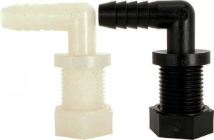 Nylon & Polypropylene Hose Barb With Nozzle Thread Elbows